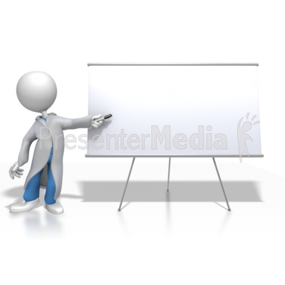 Ppt 3d cliparts blank board picture library Doctor or Nurse Presenting Blank Board - Signs and Symbols ... picture library