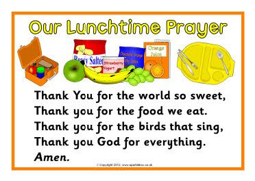 Pray for food clipart jpg freeuse stock Our Lunchtime Prayer printable poster; also editable versions to ... jpg freeuse stock