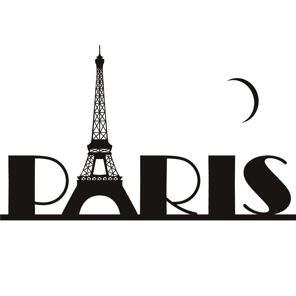 Pray for paris clipart image freeuse download Details about Paris Eiffel Tower France Wall Art Sticker ... image freeuse download