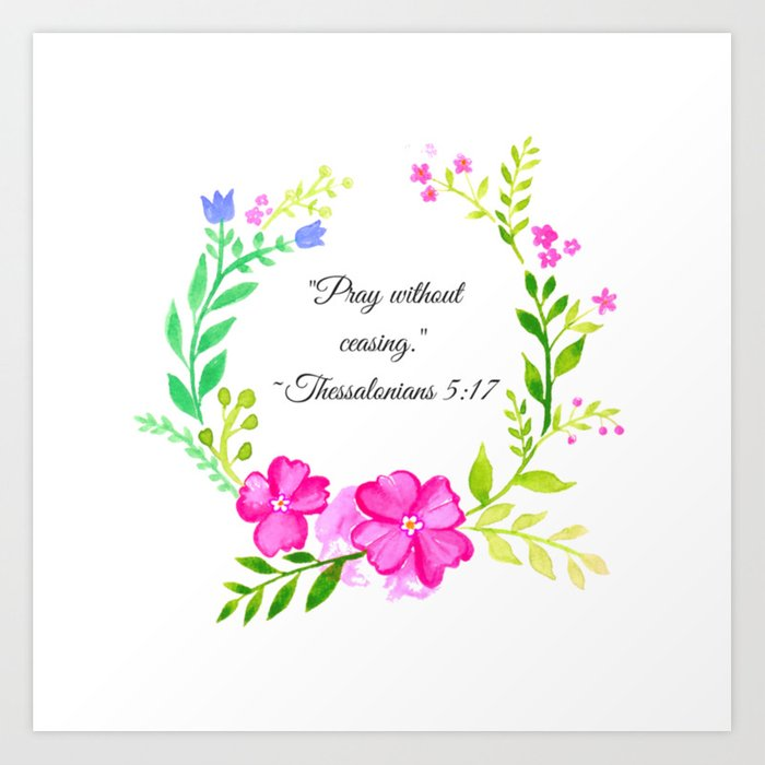 Pray without ceasing black and white clipart jpg freeuse stock \