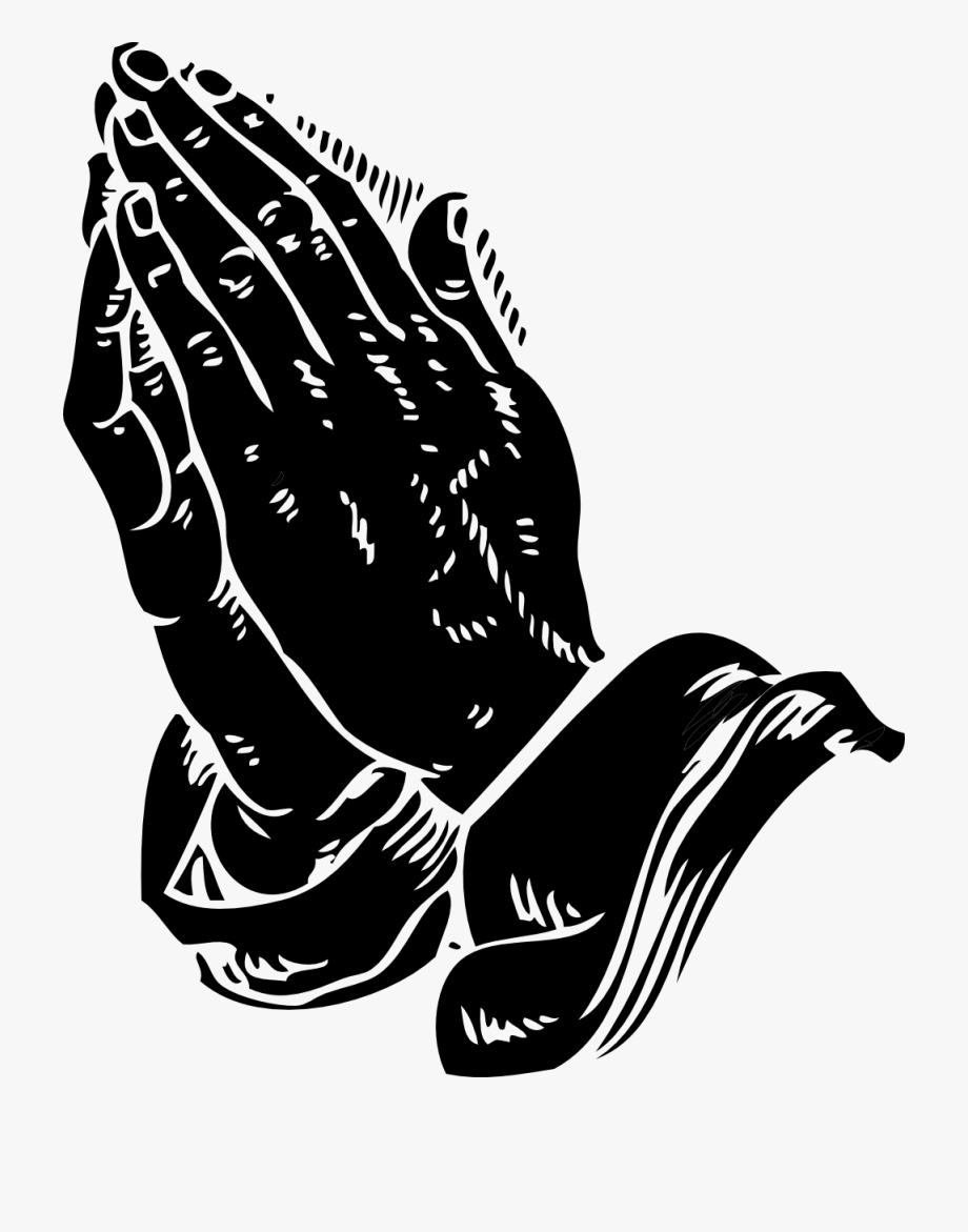 Prayer and scripture border clipart black and white png free stock Praying Hands Clip Art Black White Line Coloring - Praying ... png free stock