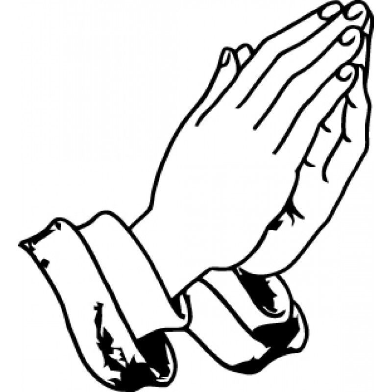 Prayer breakfast clipart image freeuse download Praying Hands Coloring Page | Prayer breakfast | Prayer ... image freeuse download