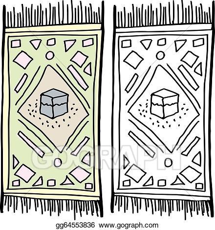 Prayer mat clipart banner free Vector Art - Isolated prayer rug. EPS clipart gg64553836 ... banner free