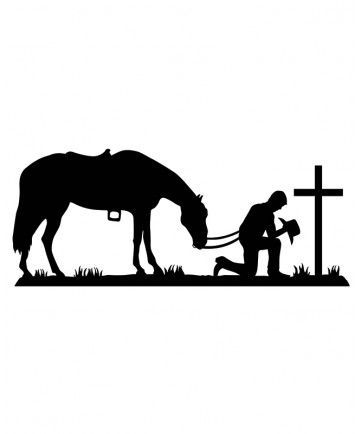 Praying cowboy silhouette clipart vector stock Image result for free cowboy and horse praying for cricut ... vector stock