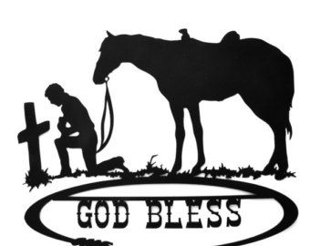 Praying cowboy silhouette clipart graphic royalty free Pinterest graphic royalty free
