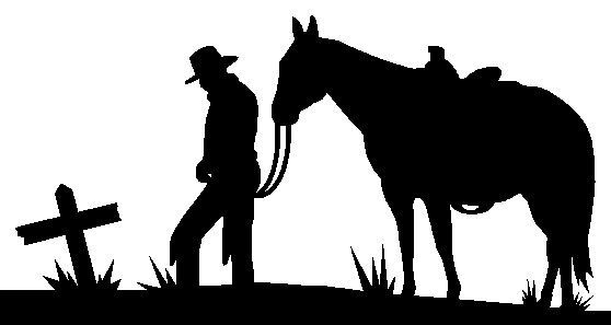 Praying cowboy silhouette clipart graphic free download Cowboy, Horse And Cross   Cross Stencils   Pinterest ... graphic free download