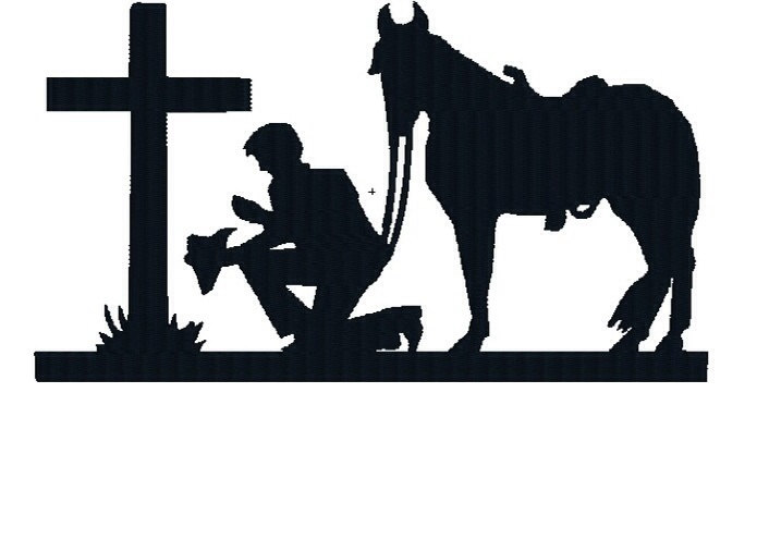 Praying cowboy silhouette clipart clip art black and white stock Free Christian Cowboy Cliparts, Download Free Clip Art, Free ... clip art black and white stock