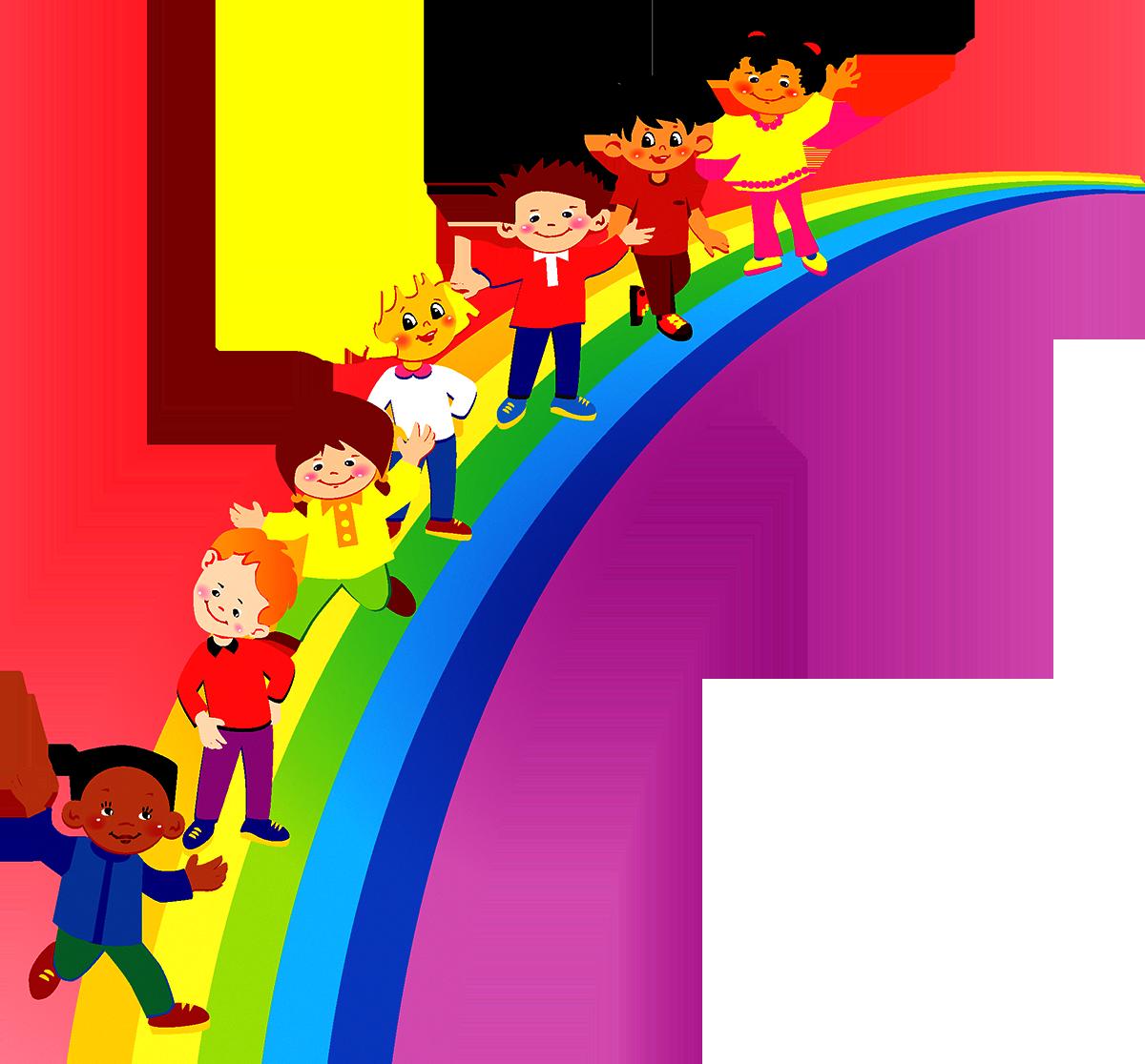 Pre school children clipart graphic transparent library Pre-school Kindergarten Information Clip art - Rainbow Children 1200 ... graphic transparent library