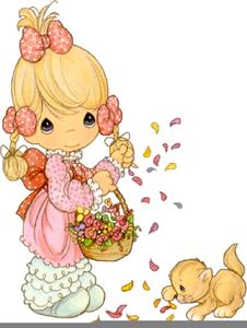 Precious moments baby clipart graphic Precious Moments Baby Girl Clipart | Free Images at Clker ... graphic