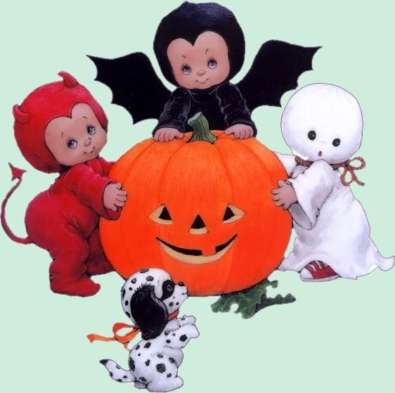 Precious moments halloween clipart png royalty free download enfants déguisés pour halloween avec leur chien 17 | RM Halloween ... png royalty free download