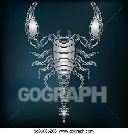 Predestination clipart clip art transparent library Vector Clipart - Silver scorpion, zodiac scorpio sign ... clip art transparent library