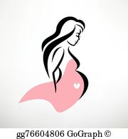 Pregnant women with flowers cliparts image free library Pregnant Woman Clip Art - Royalty Free - GoGraph image free library