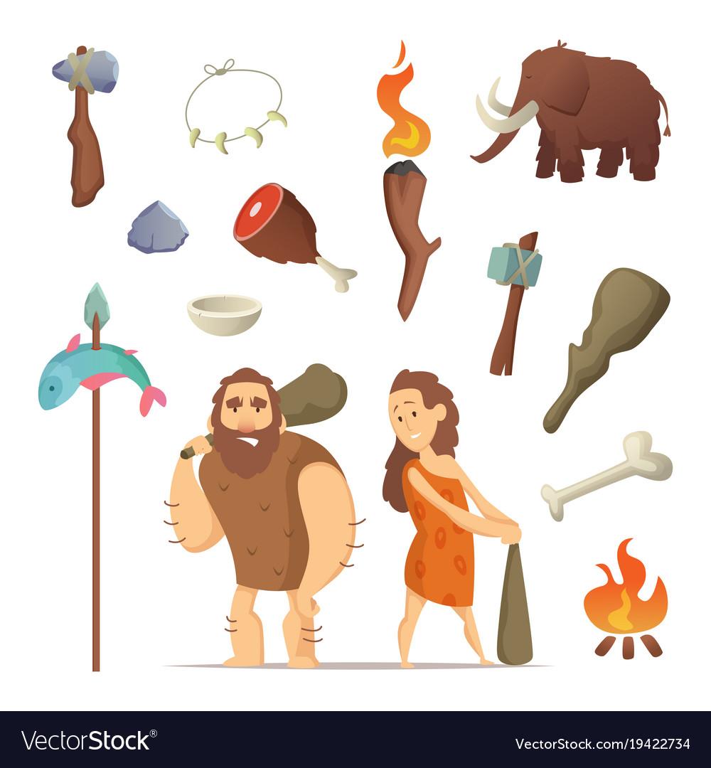 Prehistoric tool clipart clip art free Different tools from prehistoric period primitive clip art free