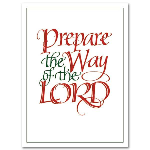 Prepare the way of the lord clipart
