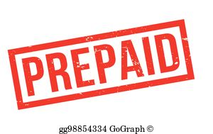 Prepay clipart graphic Prepaid Clip Art - Royalty Free - GoGraph graphic