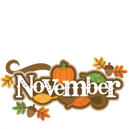Preschool calendar november clipart picture transparent library Cute november clipart - ClipartFest picture transparent library