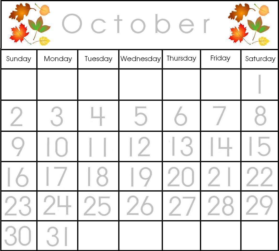 Preschool calendar november clipart clip art transparent stock Printable Preschool Calendar   My Blog clip art transparent stock