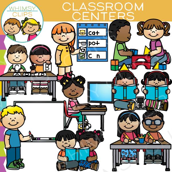 Preschool centers clipart clip transparent Classroom Centers Clip Art - Set One clip transparent