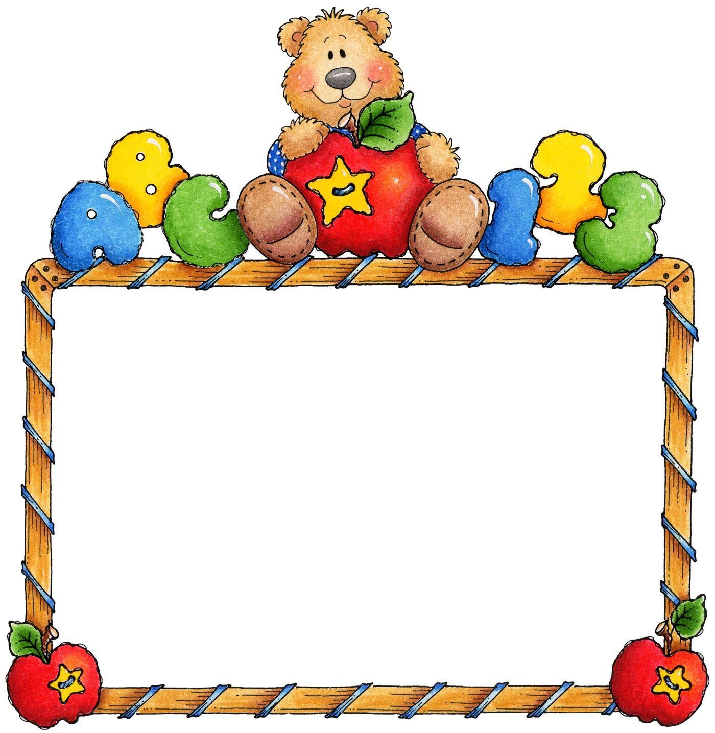 Preschool corner border clipart banner free Pin by Debbie Johnston on Bear Unit Preschool | Photo frame ... banner free