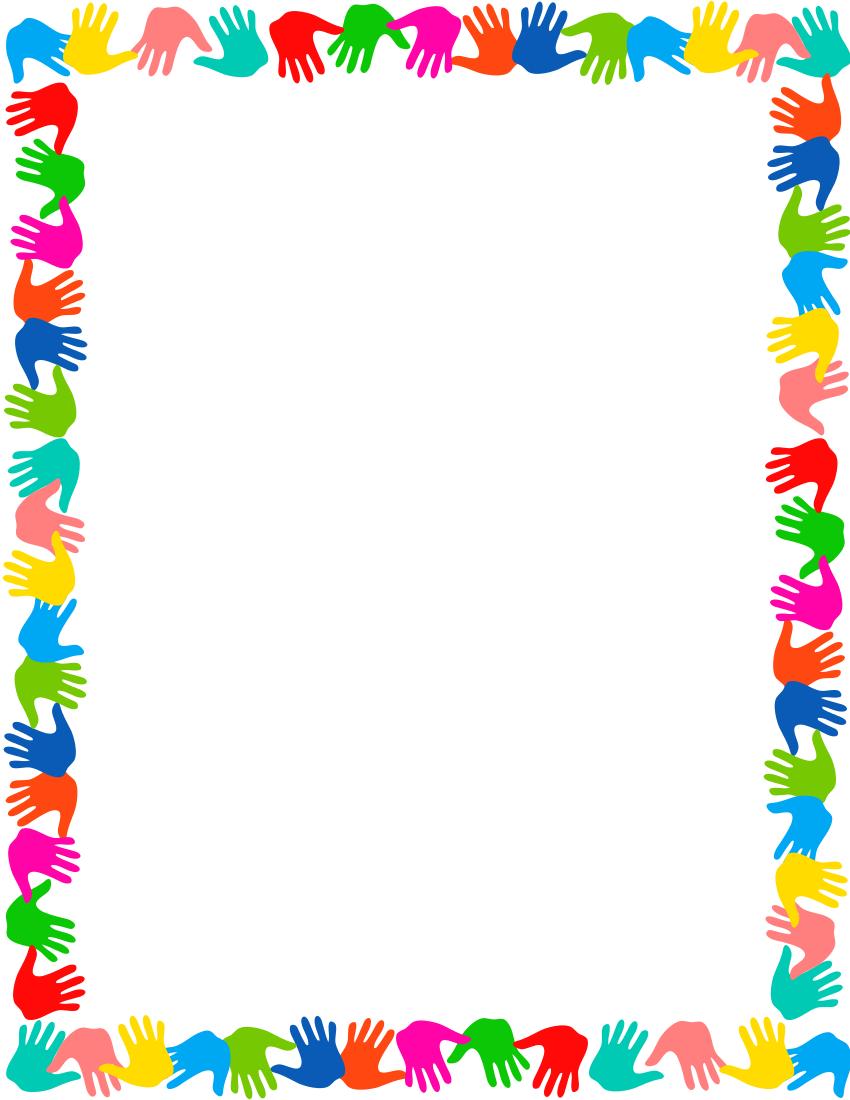 Preschool corner border clipart clipart library download hands on border … | MOD PODGE | Schoo… clipart library download