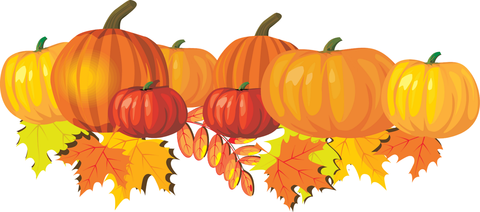 Preschool fall clipart pumpkin banner free download fall-pumpkins-and-leaves - Sacred Heart School banner free download