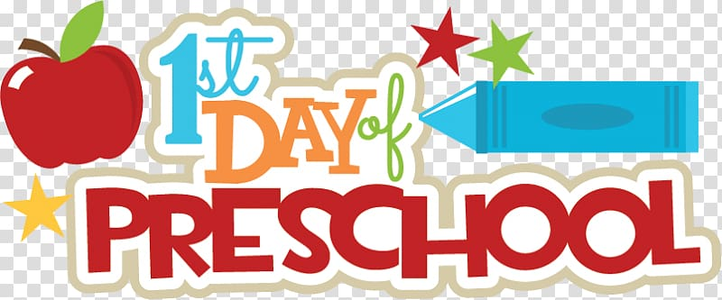 Preschool logo clipart png library library 1st day of preschool text illustration, Pre-school Keller ... png library library