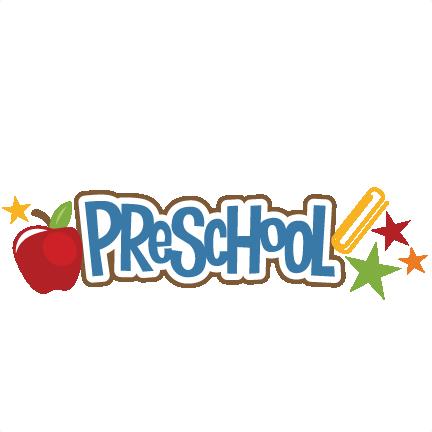 Preschool logo clipart picture royalty free stock Preschool SVG scrapbook title crayon svg file free svgs ... picture royalty free stock