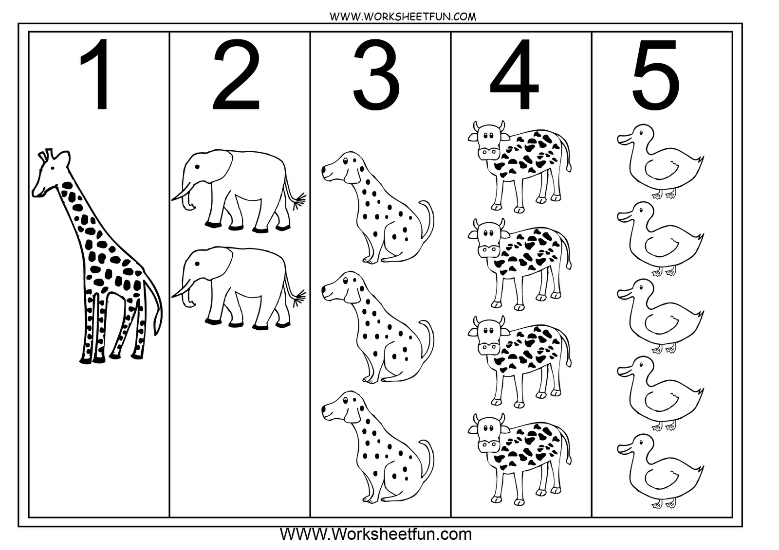 Number 5 coloring pages for kids, counting sheets printables free -  Wuppsy.com | Coloring pages inspirational, Coloring pages for kids, Bear coloring  pages | 1131x1600