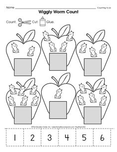 Preschool numbers clipart number 1 with dot clipart freeuse download Count and Color! Basic skills for preschool! | Apples | Pinterest ... clipart freeuse download