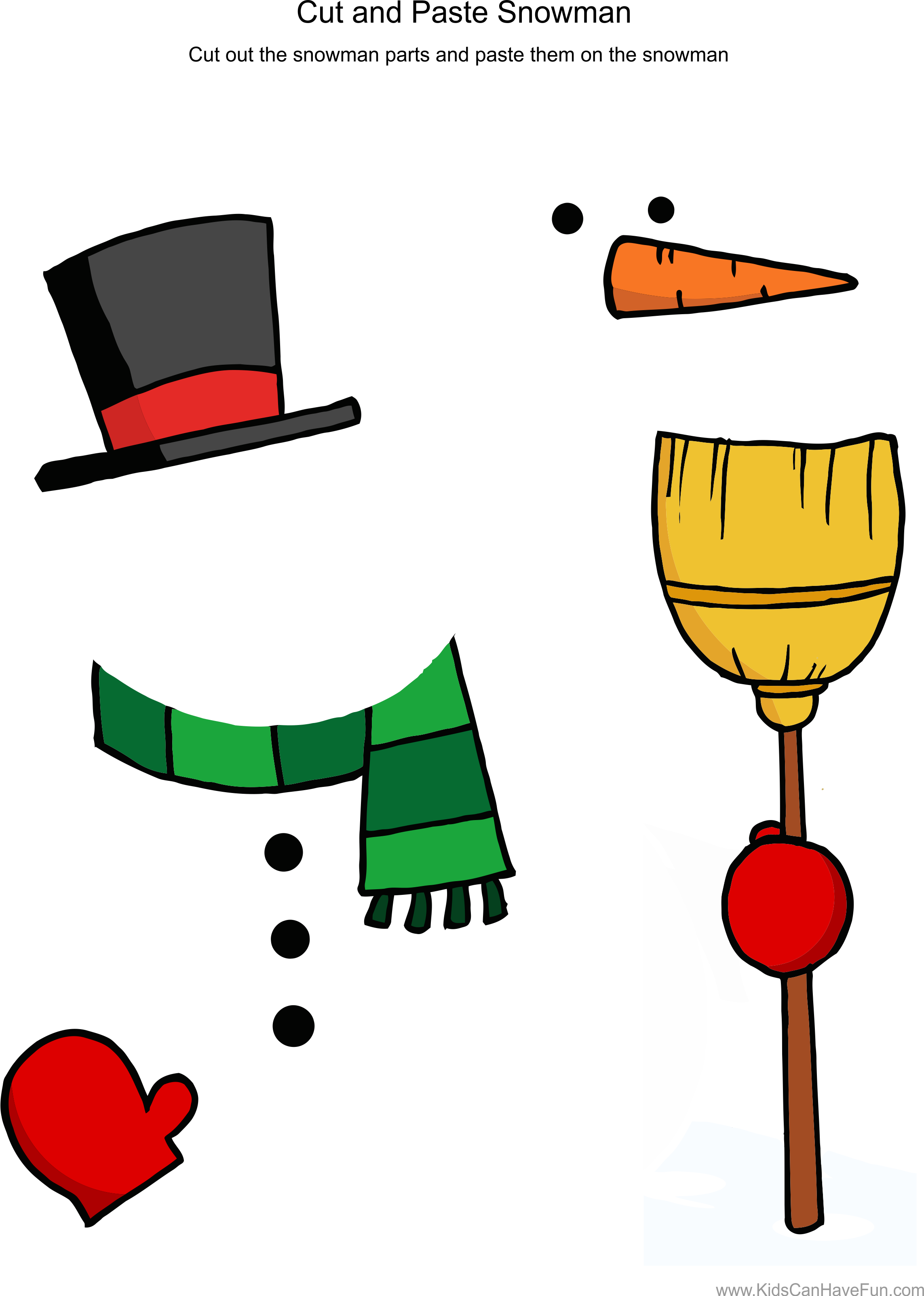 Cut and Paste Snowman Worksheet | Pinterest | Snowman, Worksheets ... png freeuse stock