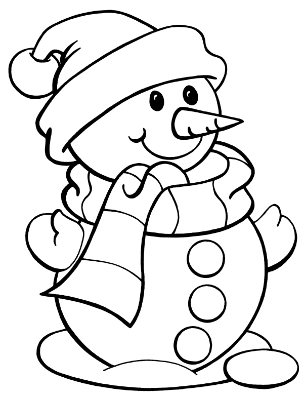 Preschool snowflake coloring page clipart picture freeuse library I have download Snowman With Long Nose Coloring Page | SANTAS ... picture freeuse library