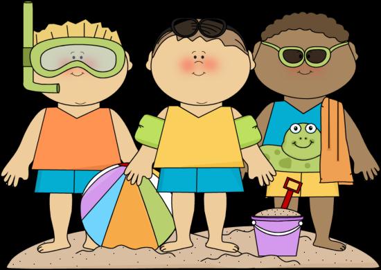 Preschool summer clipart svg library SUMMER BOYS ON BEACH CLIP ART   CLIP ART - SUMMER - CLIPART ... svg library
