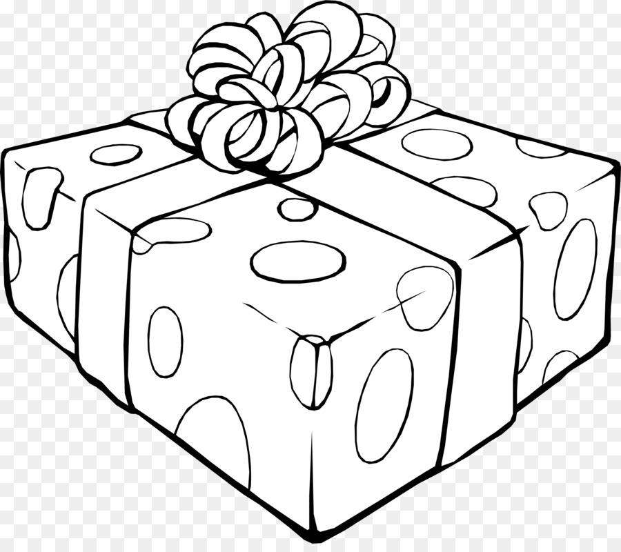Present clipart outline jpg free download Christmas Black And White clipart - Gift, Rectangle ... jpg free download