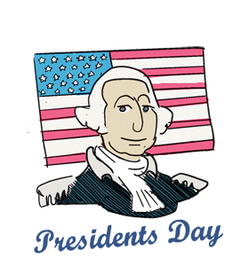 Presidents day 2019 clipart banner free stock US Presidents Day - US banner free stock
