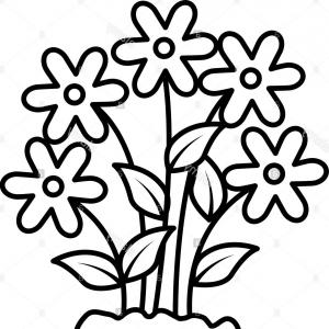 Pretty black and white flower clipart svg library Stock Photo Cute Flower Garden Icon Vector Illustration ... svg library