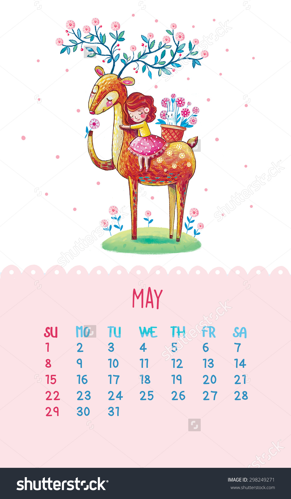 Pretty may 2016 calendar clipart clipart royalty free Cute may 2016 calendar - Printable Monthly Calendar clipart royalty free