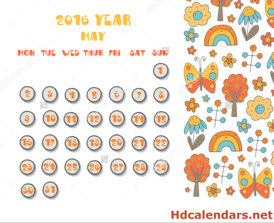 Pretty may 2016 calendar clipart clipart royalty free May 2016 Calendar Cute clipart royalty free