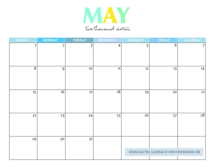 Pretty may 2016 calendar clipart picture transparent 17 Best ideas about 2016 May Calendar on Pinterest | Free ... picture transparent