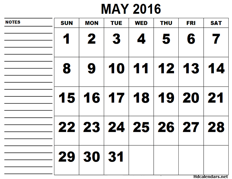 Pretty may 2016 calendar clipart svg download May 2016 Free Printable Calendar svg download