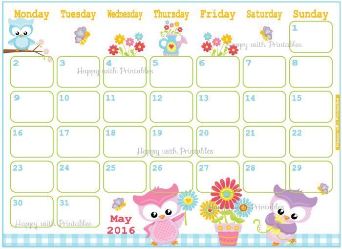 Pretty may 2016 calendar clipart image royalty free stock Free Premium Cliparts - ClipartFest image royalty free stock