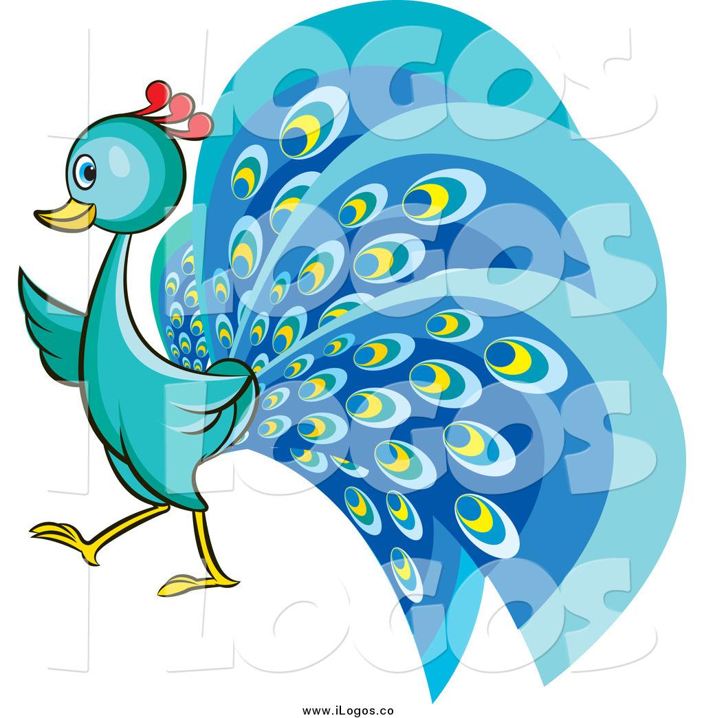 Pretty peacock clipart