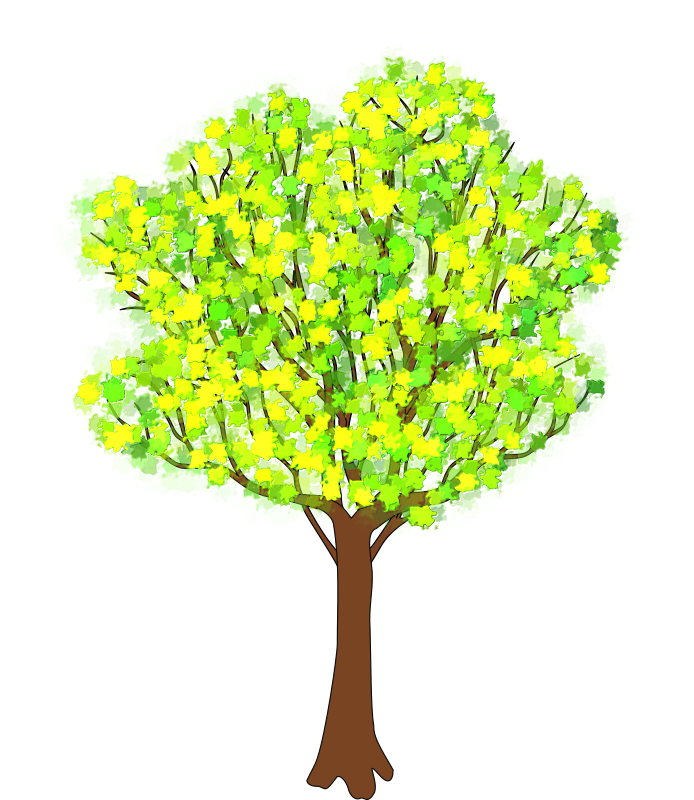 Small tree clipart clipart black and white Clipart - tree in spring clipart black and white