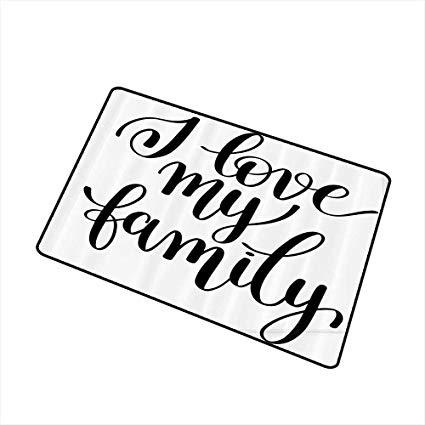 Pretty writing door clipart vector library stock Amazon.com : Jbgzzm Fashion Door mat Family I Love My Family ... vector library stock