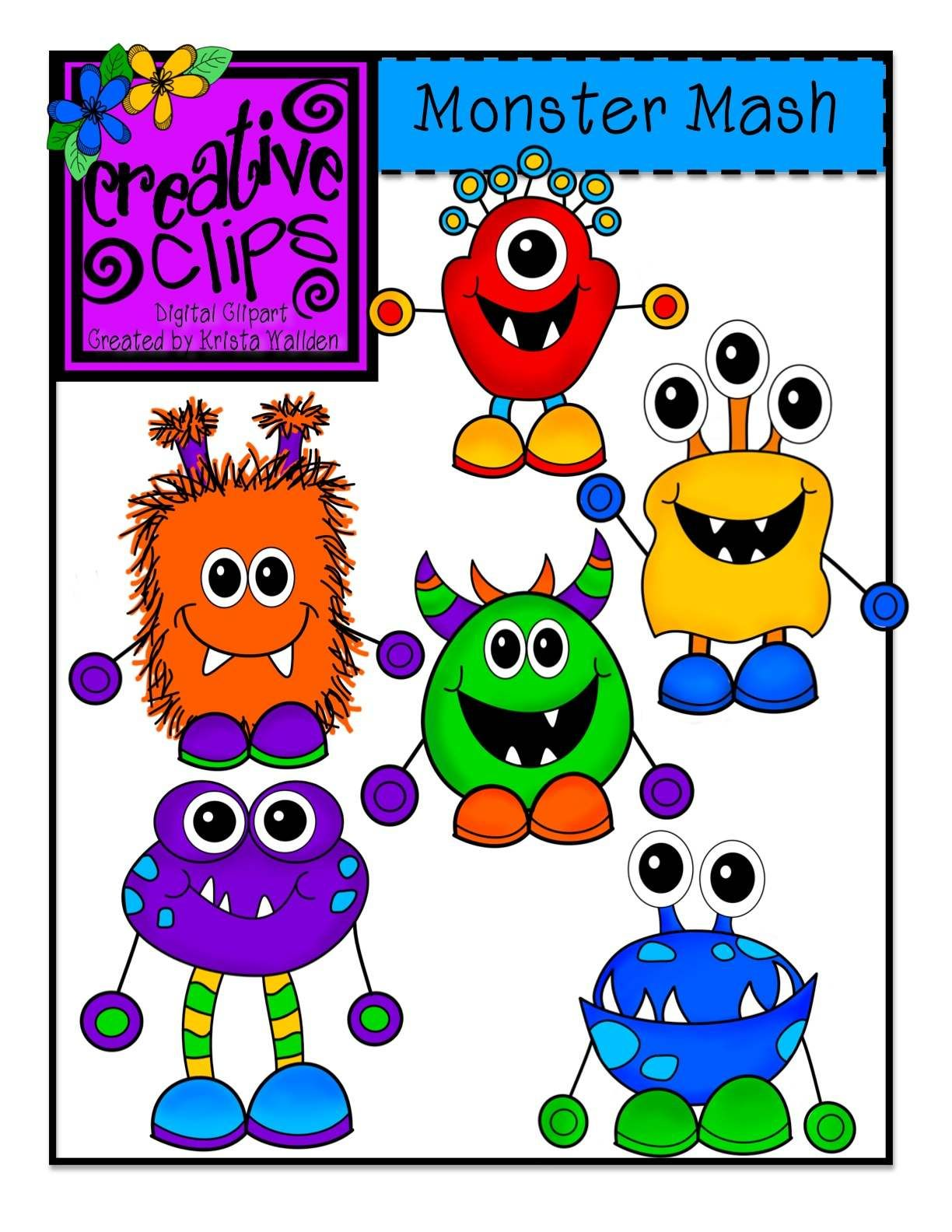 Pretty writing door clipart image library The Creative Chalkboard: Day 2 {Freebie} Monster Writing ... image library