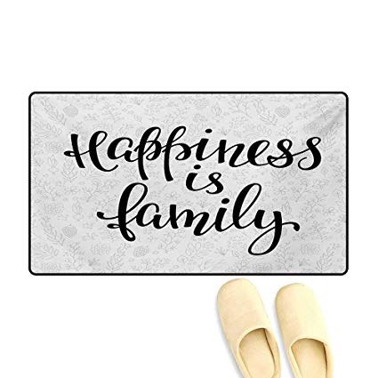 Pretty writing door clipart banner stock Amazon.com: Bath Mat,Happiness is Family Hand Writing ... banner stock