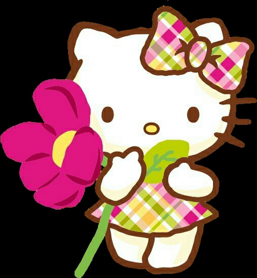 Primaverababies clipart graphic freeuse hellokitty #hello Kitty #spring #primavera #flower - Cute ... graphic freeuse