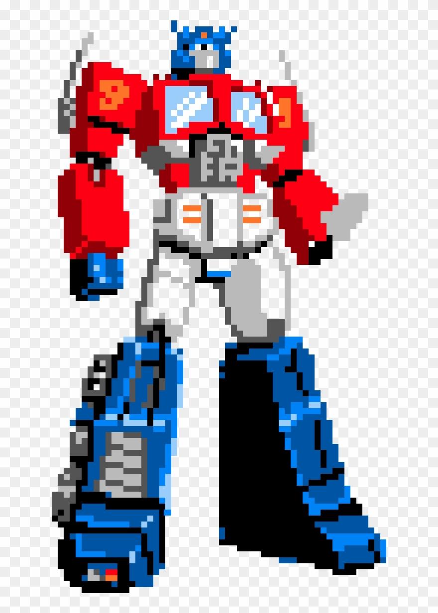 Prime clipart clip black and white stock Optimus Prime - Pixel Art Transformers Optimus Prime Clipart ... clip black and white stock
