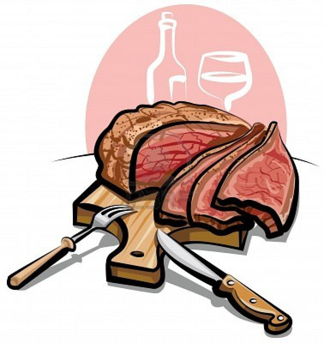 Prime rib dinner black and white clipart svg black and white library Prime rib dinner clipart 4 » Clipart Portal svg black and white library