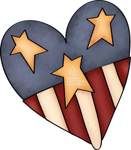 Primitive patriotic heart clipart svg Free Country Heart Cliparts, Download Free Clip Art, Free ... svg