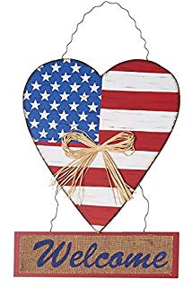Primitive patriotic heart clipart png black and white Amazon.com: Rainbow Handcrafts Rustic Metal 3D Barn Star ... png black and white